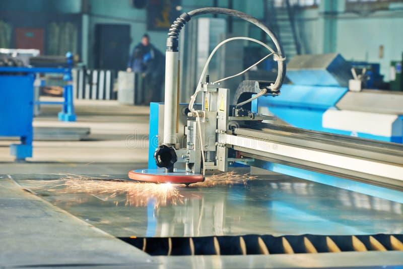 Corte do laser do plasma fotos de stock