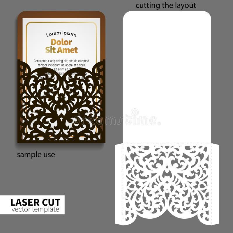 Corte do laser do vetor ilustração stock