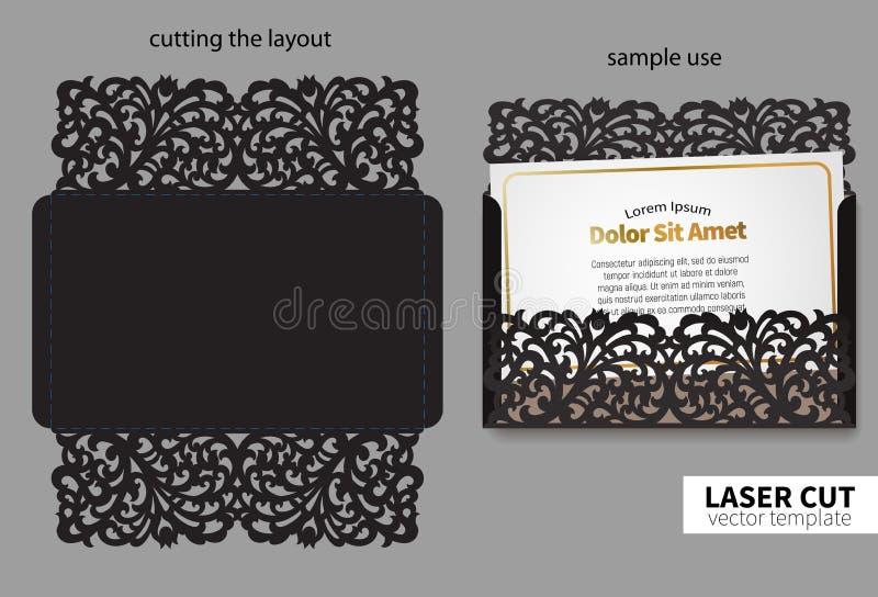 Corte do laser do vetor ilustração royalty free