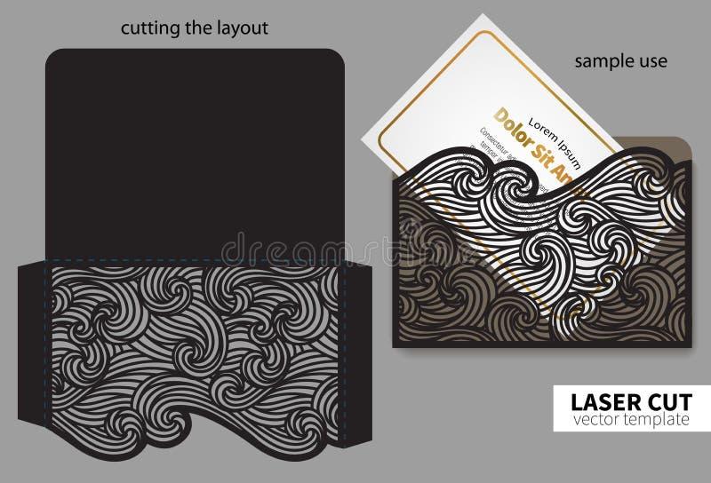 Corte do laser do vetor ilustração do vetor