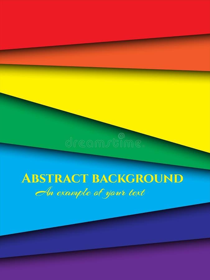 Corte do papel de fundo Ornamento de papel abstrato para o projeto com camadas multi-coloridas retas Arte da cinzeladura Vetor ilustração do vetor