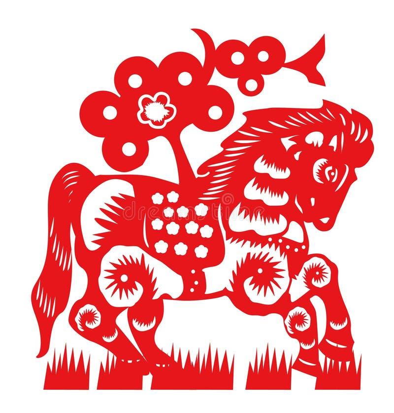 Corte do papel do cavalo ilustração do vetor