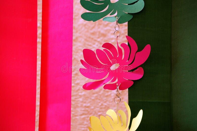Corte do papel e fita colorida fotos de stock royalty free