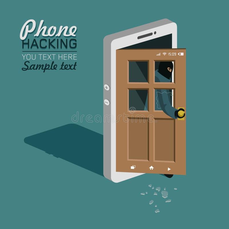 Corte do telefone ilustração stock