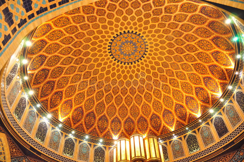 Corte Dome2 di Ibn Battuta Persia immagine stock libera da diritti