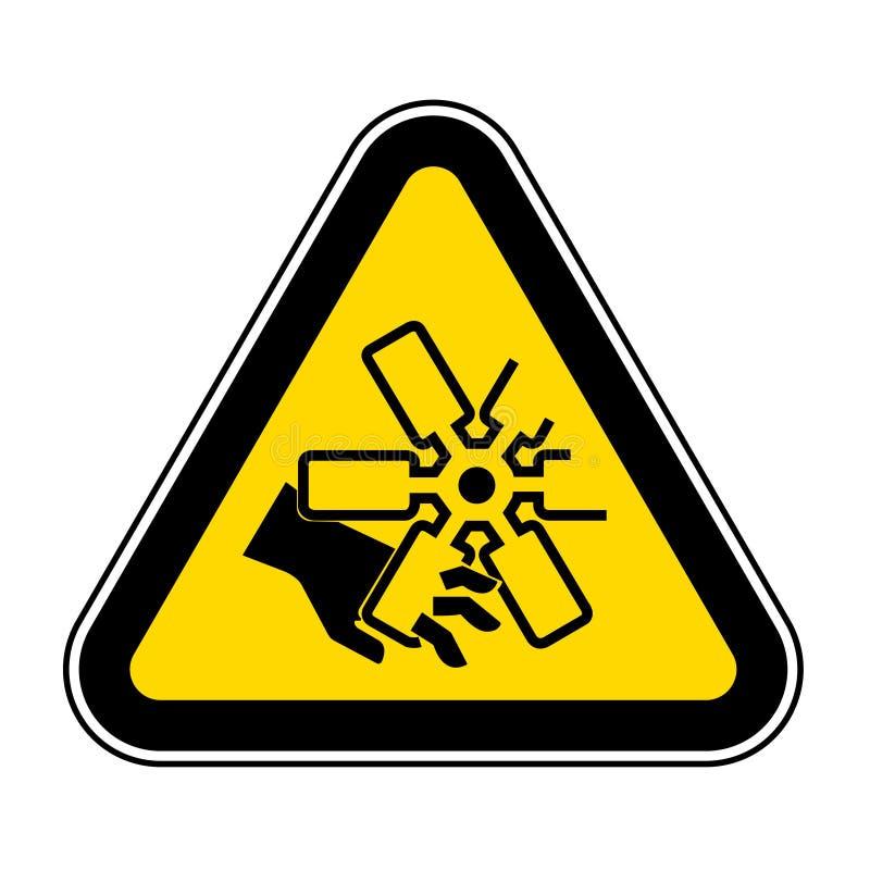 Corte dos dedos ou do sinal do s?mbolo do f? de motor da m?o, ilustra??o do vetor, isolado na etiqueta branca do fundo EPS10 ilustração royalty free
