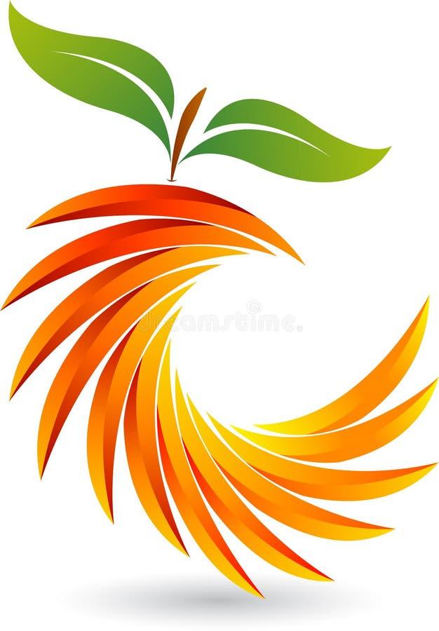 Corte el logotipo de la fruta libre illustration