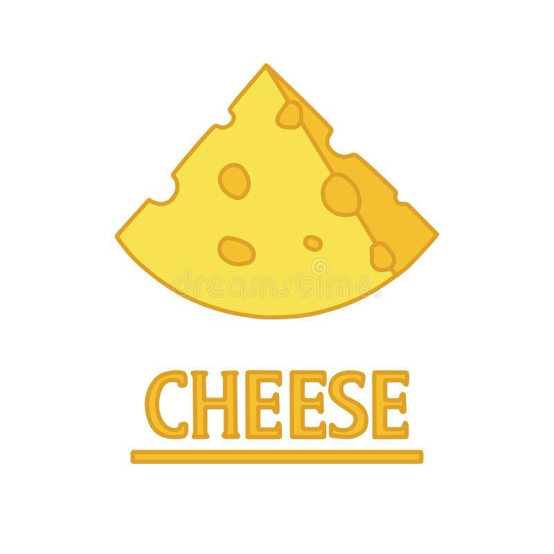 Corte el pedazo del queso stock de ilustración