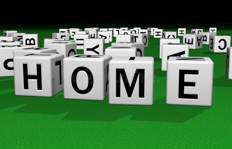 Corte en cuadritos a casa ilustración del vector