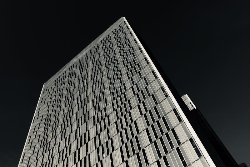 Corte europea della giustizia in bianco e nero fotografia stock