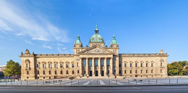 Corte federal de Alemanha em Leipzig imagem de stock
