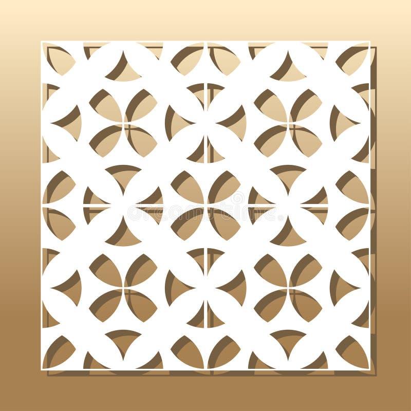Corte geométrico do laser ilustração stock