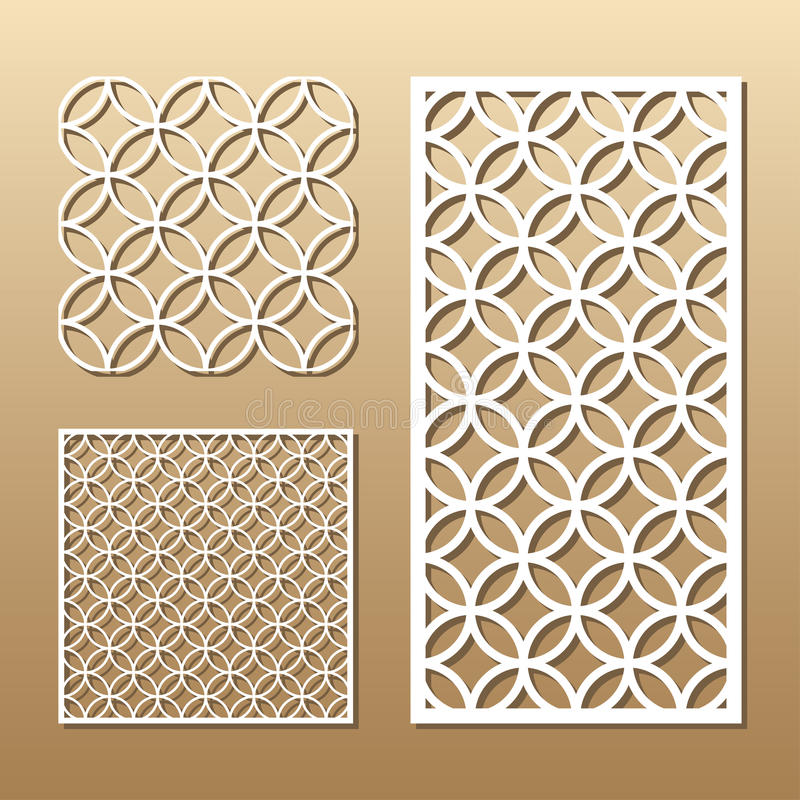 Corte geométrico do laser ilustração royalty free