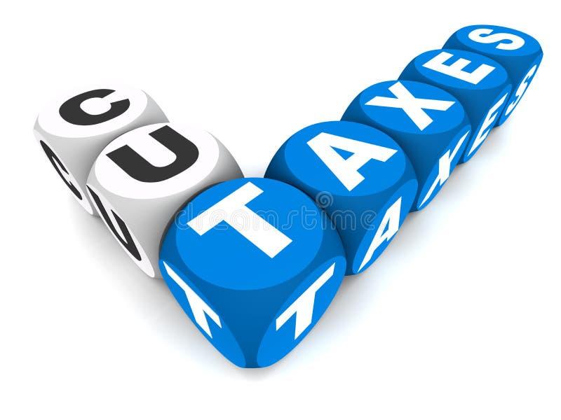 Corte impostos ilustração do vetor