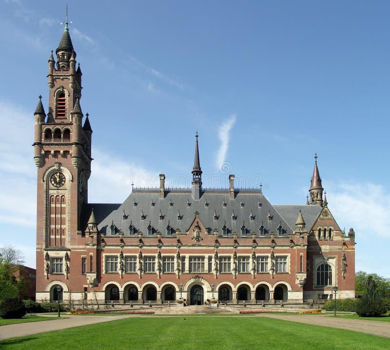 Corte Internacional de Justiça. Haia, a rede foto de stock
