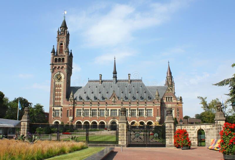 Corte Internacional de Justiça ICJ do palácio da paz fotografia de stock royalty free