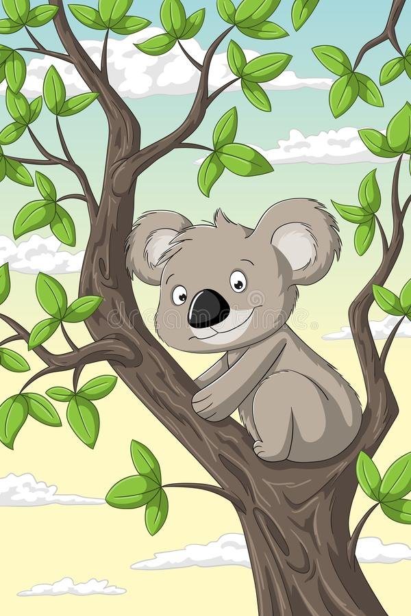 Corte la koala en un árbol libre illustration