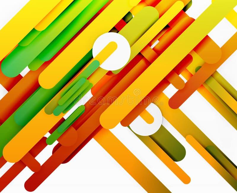 Corte las líneas rectas fondo abstracto del color de papel 3d libre illustration