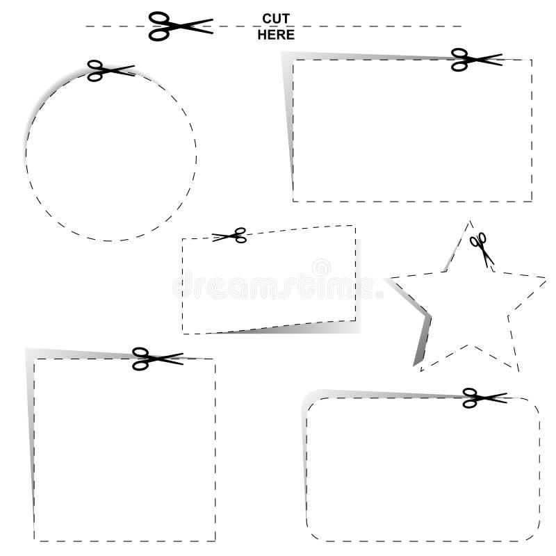 Corte las salidas ilustración del vector