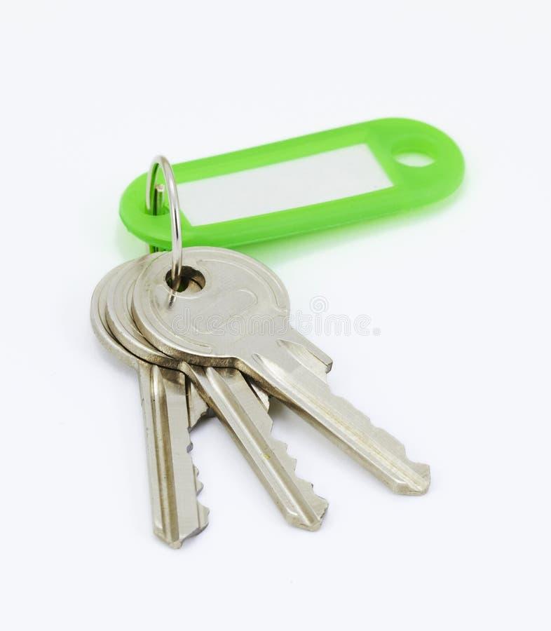 Corte los claves del hogar fotografía de archivo