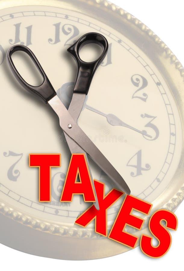 Corte los impuestos ilustración del vector