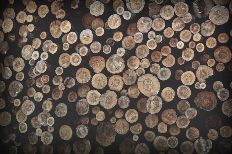 corte los registros de madera de pino mucho fondo de la textura fotos de archivo