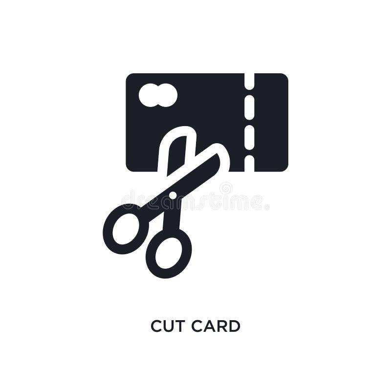 corte o ícone isolado cartão ilustração simples do elemento dos ícones do conceito do pagamento corte o projeto editável do símbo ilustração do vetor