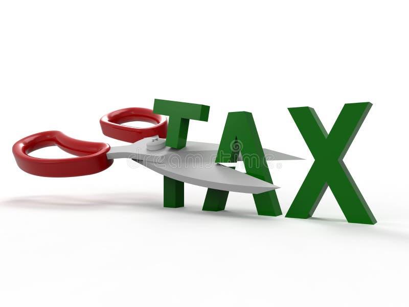 Corte o conceito dos impostos ilustração do vetor
