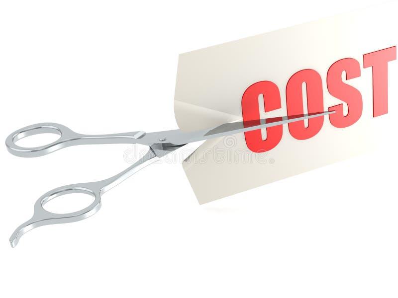 Corte o custo ilustração do vetor