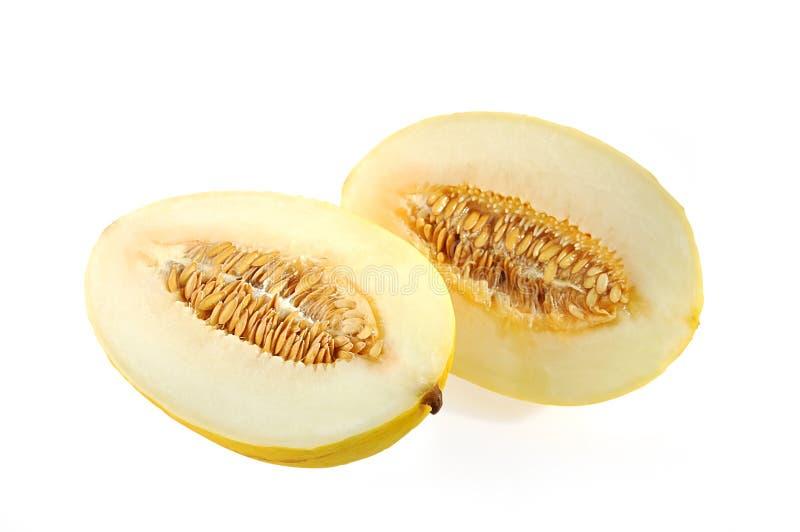 Corte o melão. foto de stock