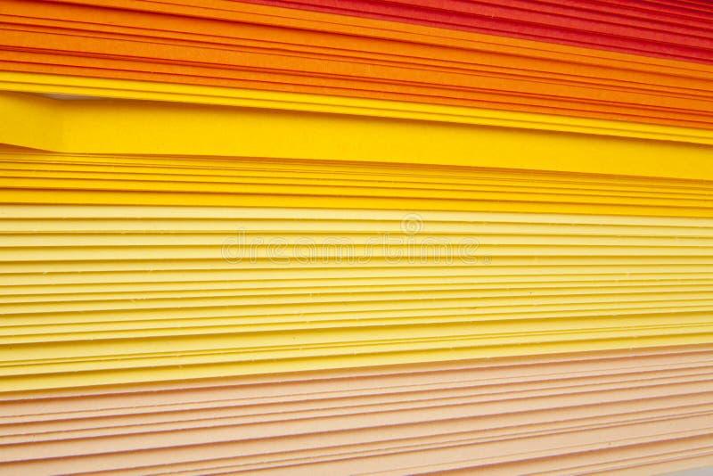 Corte o papel da cor foto de stock
