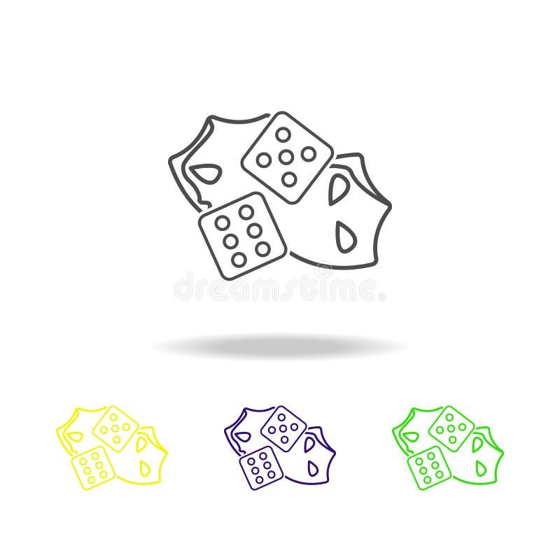Corte o teatro coloriu ícones Elemento da ilustração do teatro Sinais e ícone para Web site, design web dos símbolos, app móvel n ilustração do vetor