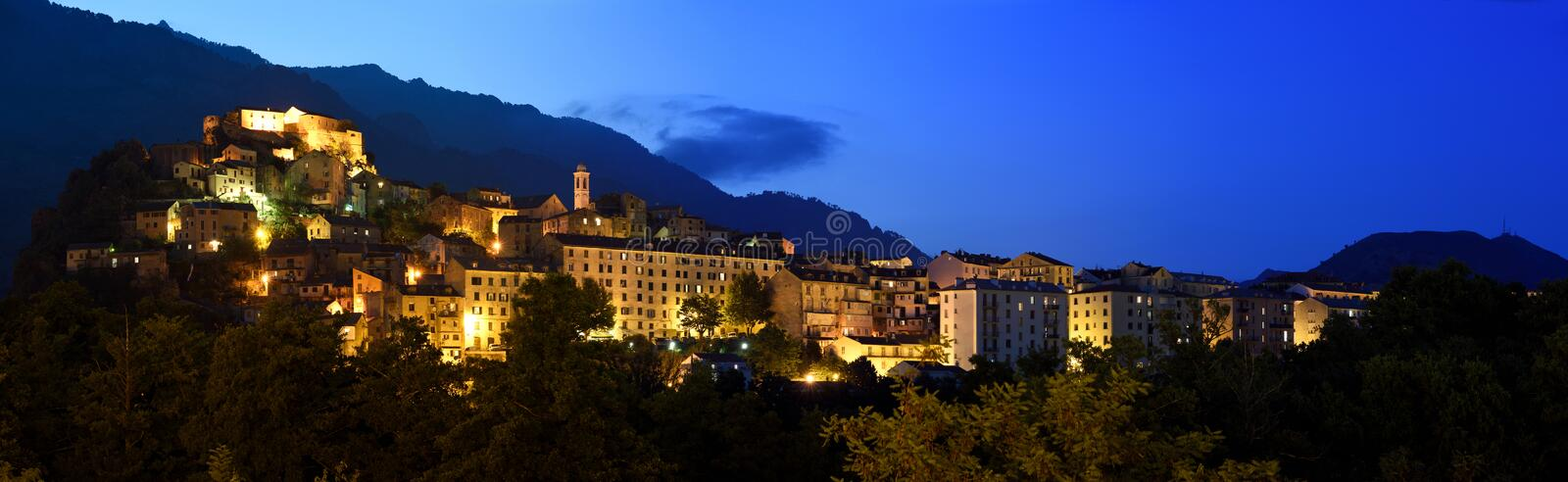 Corte Old Town, Corse, France royalty free stock photo