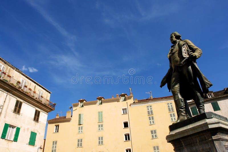 Corte pascal paoli statue royalty free stock image