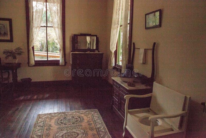 1904 corte planetária, Evelyn Trickett Bubbett Room no parque estadual histórico de Koreshan fotos de stock royalty free