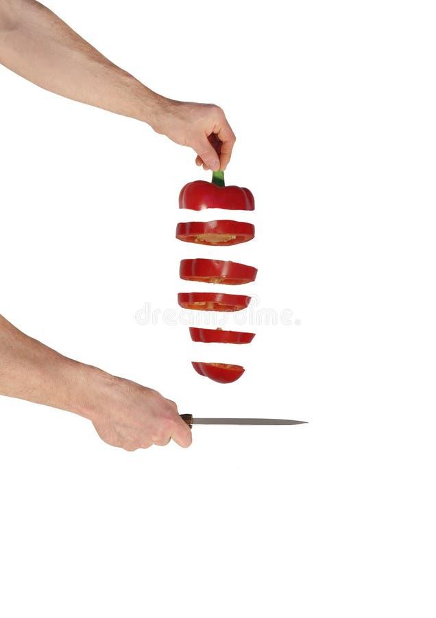 Corte rápido da paprika foto de stock royalty free