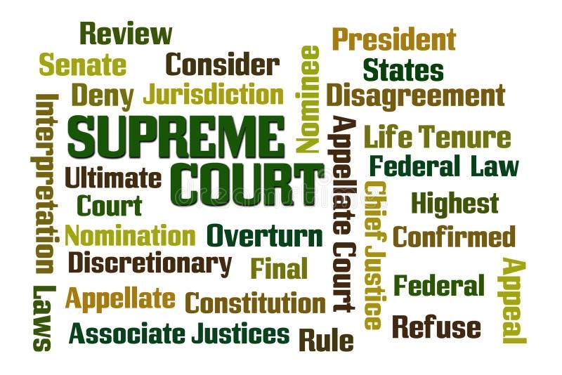 Corte suprema ilustração stock