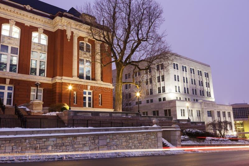 Corte suprema del primo mattino visto il Missouri fotografia stock libera da diritti