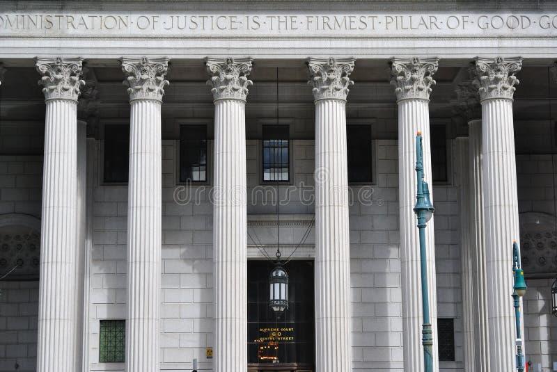 Corte suprema di New York fotografie stock