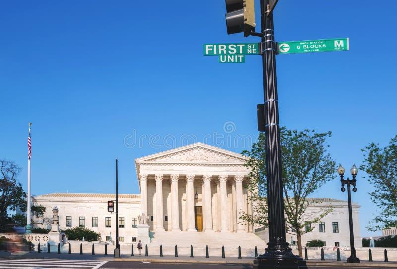 A corte suprema do Estados Unidos no Washington DC imagens de stock
