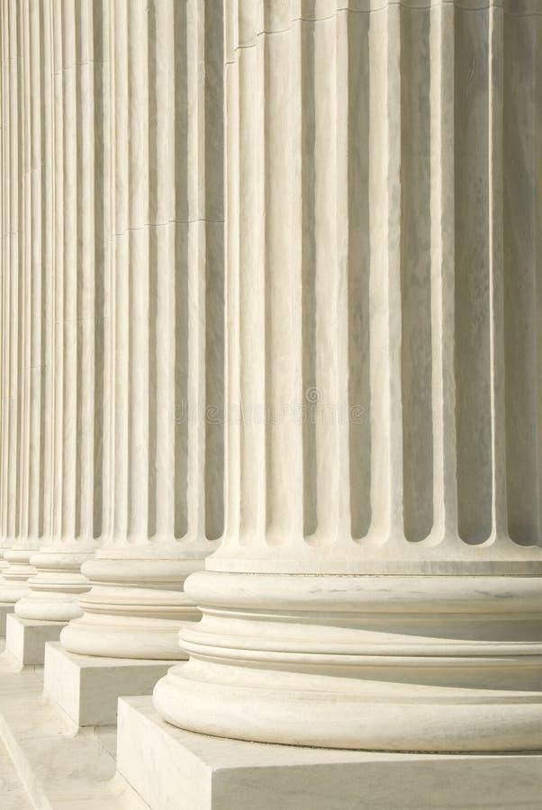Corte suprema dos E.U. - colunas fotografia de stock royalty free