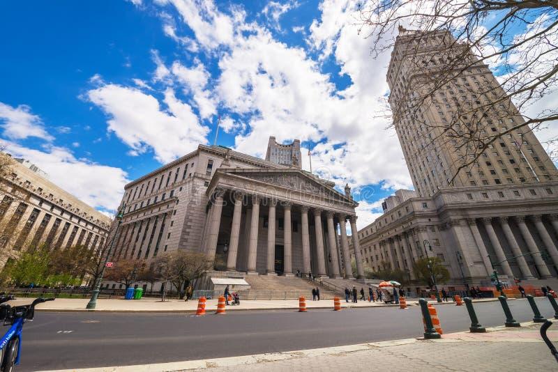 Corte suprema NYC de Thurgood Marshall United States Courthhouse New York fotos de stock
