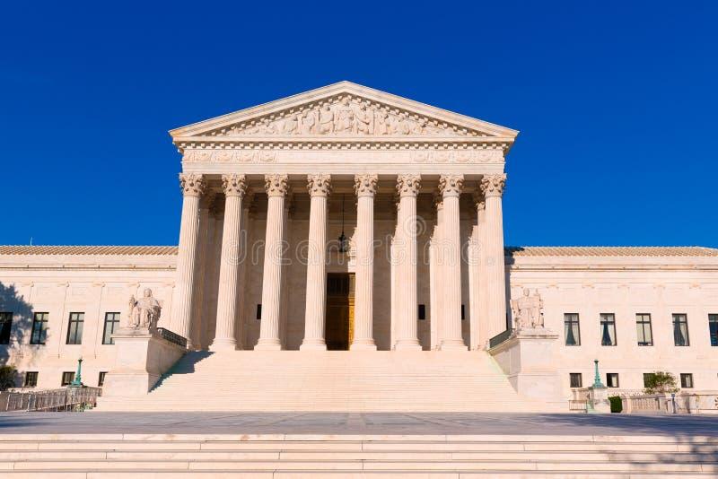 Corte suprema Stati Uniti che costruiscono Washington immagine stock