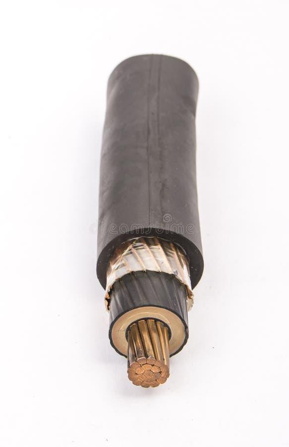 Corte transversal de cable de baja tensión foto de archivo