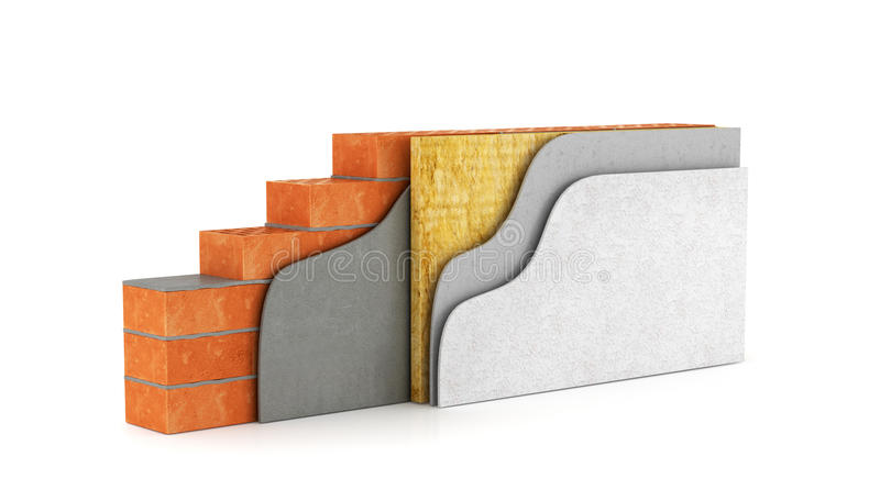 Corte transversal de una pared libre illustration