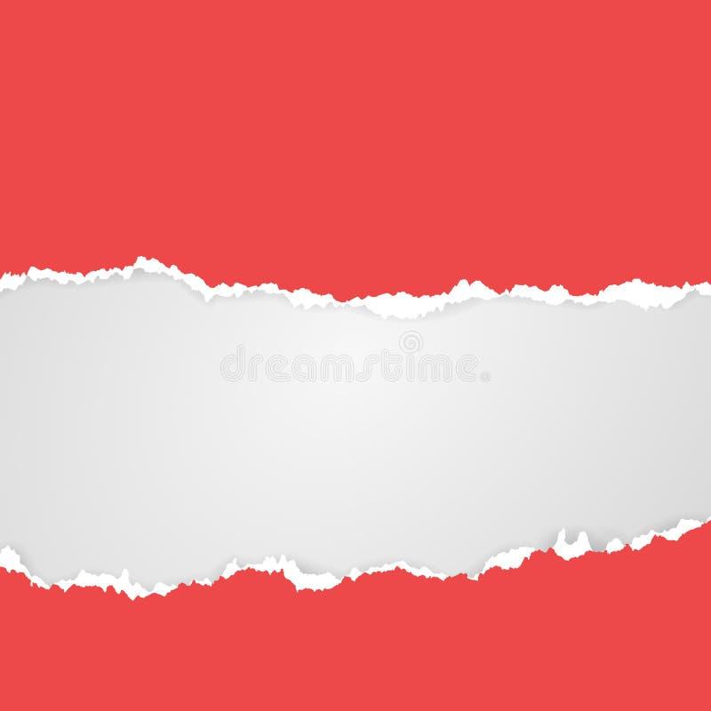 Corte y papel rasgado con el lugar para el texto Plantilla colorida del vector stock de ilustración
