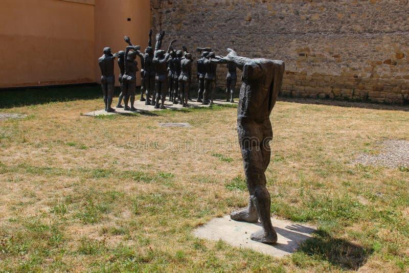 The Cortege of the Sacrificial Victims, Sighet - Cortegiul Sacrificatilor, Sighet. Statues representing victims of the Communist regime imprisoned in Sighetul royalty free stock image