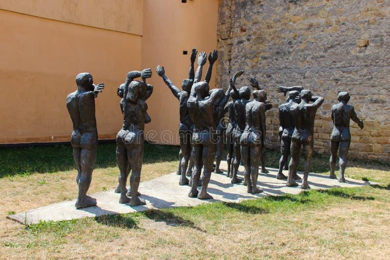 The Cortege of the Sacrificial Victims, Sighet - Cortegiul Sacrificatilor, Sighet. Statues representing victims of the Communist regime imprisoned in Sighetul royalty free stock images