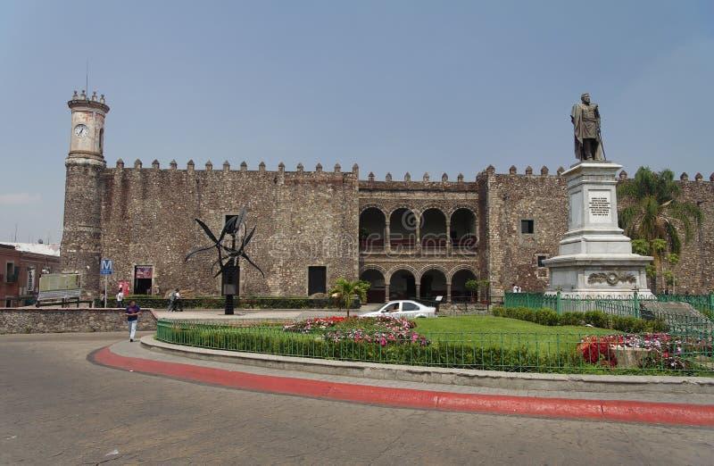 cortes cuernavaca de palacio royaltyfri bild