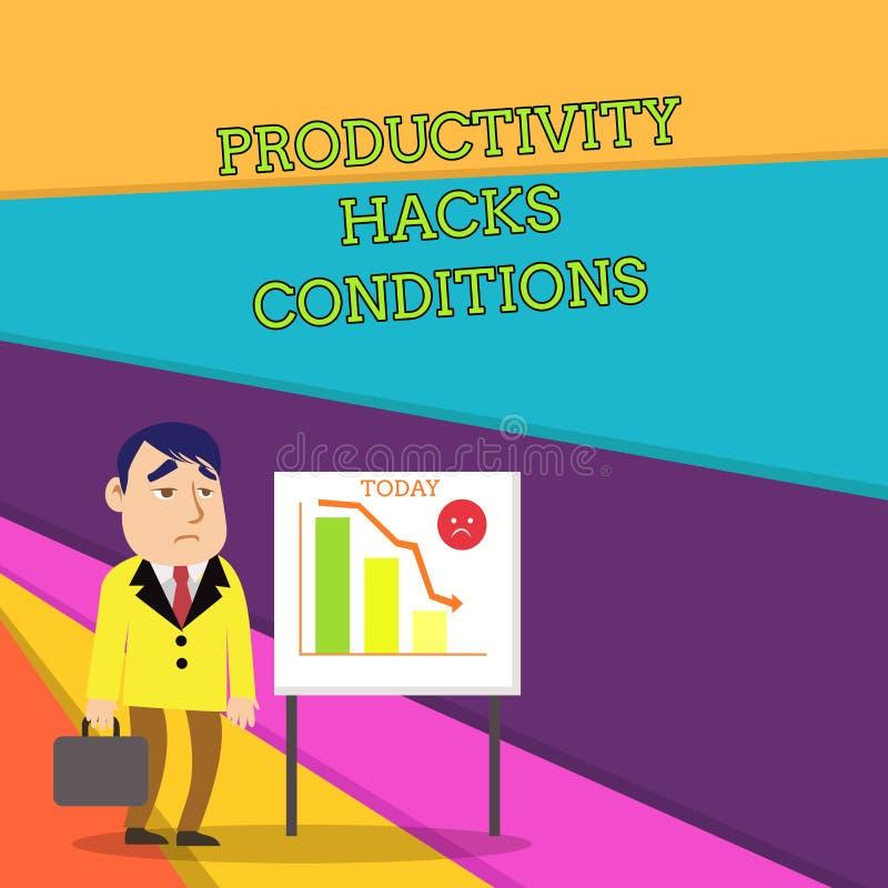 Cortes da produtividade do texto da escrita Conceito que significa os truques que você obtém feito mais na mesma quantidade de te ilustração do vetor
